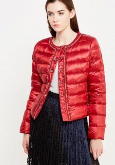 Пуховик, Liu Jo Jeans, цвет: красный. Артикул: LI003EWUDU43. Премиум / Одежда / Верхняя одежда / Пуховики и зимние куртки