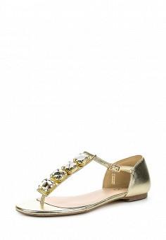 Сандалии, Liu Jo, цвет: золотой. Артикул: LI687AWOQB91. Премиум / Обувь