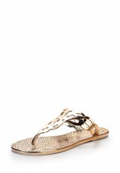 Шлепанцы, LOST INK, цвет: золотой. Артикул: LO019AWOVU36. Женская обувь / Шлепанцы и акваобувь