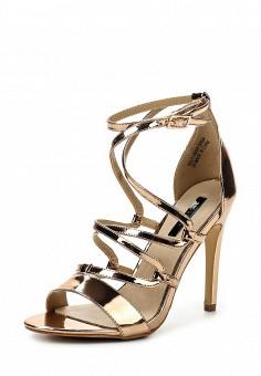 Босоножки, LOST INK, цвет: золотой. Артикул: LO019AWQLF00. Женская обувь / Босоножки