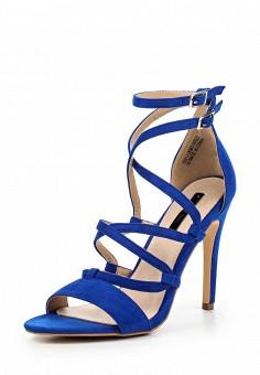 Босоножки, LOST INK, цвет: синий. Артикул: LO019AWQLF01. Женская обувь / Босоножки