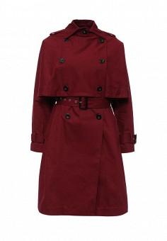 Плащ, Lost Ink, цвет: бордовый. Артикул: LO019EWJOT75. Женская одежда / Верхняя одежда / Плащи и тренчкоты