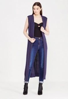 Жилет, LOST INK, цвет: синий. Артикул: LO019EWJOW48. Женская одежда / Джемперы, свитеры и кардиганы / Пончо, жилеты и накидки