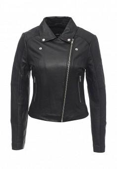 Куртка кожаная, LOST INK, цвет: черный. Артикул: LO019EWNTC65. Женская одежда / Верхняя одежда / Кожаные куртки