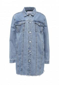 Куртка джинсовая, LOST INK, цвет: голубой. Артикул: LO019EWPXY04. Женская одежда / Тренды сезона / Летний деним / Джинсовые куртки