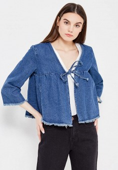 Куртка джинсовая, LOST INK, цвет: синий. Артикул: LO019EWTTD31. Женская одежда / Тренды сезона / Летний деним / Джинсовые куртки