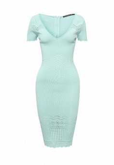 Платье-рубашка с поясом и длинным рукавом