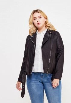 Куртка кожаная, LOST INK PLUS, цвет: черный. Артикул: LO035EWSIL33. Женская одежда / Верхняя одежда / Косухи