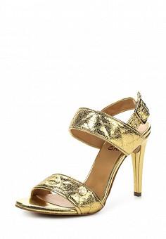 Босоножки, Love Moschino, цвет: золотой. Артикул: LO416AWPUM61. Премиум / Обувь / Босоножки