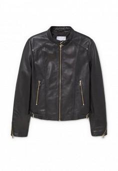 Куртка, Mango, цвет: черный. Артикул: MA002EWLCL28. Женская одежда / Верхняя одежда / Кожаные куртки