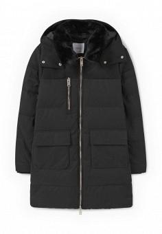 Пуховик, Mango, цвет: черный. Артикул: MA002EWMFF58. Женская одежда / Верхняя одежда / Пуховики и зимние куртки