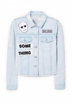 Куртка джинсовая, Mango, цвет: голубой. Артикул: MA002EWSKG94. Женская одежда / Тренды сезона / Летний деним / Джинсовые куртки