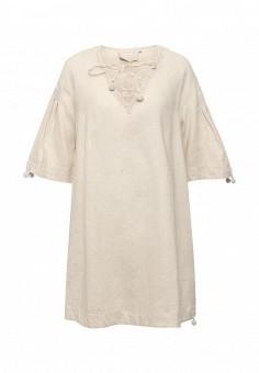Платье, Max&Co, цвет: бежевый. Артикул: MA111EWOLU31. Премиум / Одежда / Платья и сарафаны
