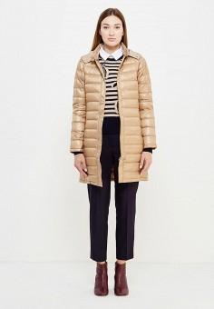Пуховик, Max&Co, цвет: бежевый. Артикул: MA111EWUBZ27. Женская одежда / Верхняя одежда / Пуховики и зимние куртки