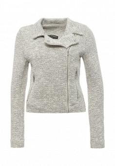 Жакет, Miss Selfridge, цвет: серый. Артикул: MI035EWQTG42. Женская одежда / Верхняя одежда / Косухи