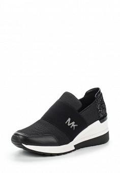 Кроссовки, Michael Michael Kors, цвет: черный. Артикул: MI048AWUWP33. Премиум / Обувь / Кроссовки и кеды