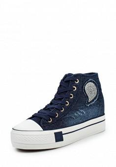 Кеды на танкетке, Mixfeel, цвет: синий. Артикул: MI053AWPSW34. Женская обувь / Кроссовки и кеды