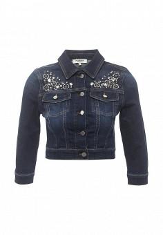 Куртка джинсовая, Morgan, цвет: синий. Артикул: MO012EWOPK89. Женская одежда / Верхняя одежда / Джинсовые куртки