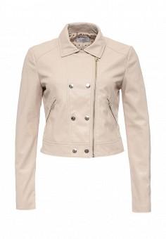 Куртка кожаная, Motivi, цвет: розовый. Артикул: MO042EWRCG99. Женская одежда / Верхняя одежда / Косухи
