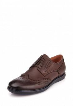 Мужские туфли ditto коричневого цвета выполнены из натуральной кожи