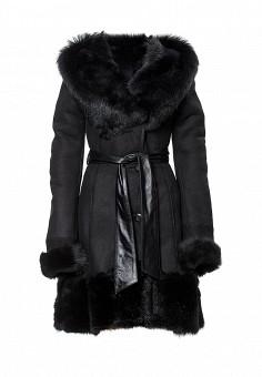 Дубленка Grafinia, цвет: черный. Артикул: MP002XW1CRLM. Женская одежда