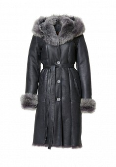 Дубленка, Grafinia, цвет: серый. Артикул: MP002XW1G4PP. Женская одежда / Верхняя одежда / Шубы и дубленки