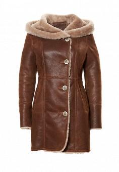 Дубленка, Grafinia, цвет: коричневый. Артикул: MP002XW1GIAS. Женская одежда / Верхняя одежда / Шубы и дубленки