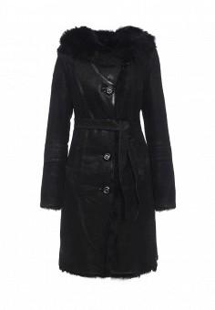 Дубленка, Mondial, цвет: черный. Артикул: MP002XW1GIZ1. Женская одежда / Верхняя одежда / Шубы и дубленки
