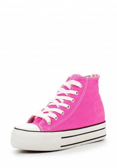 Кеды на танкетке, Niweile, цвет: розовый. Артикул: NI018AWQQA30. Женская обувь / Кроссовки и кеды