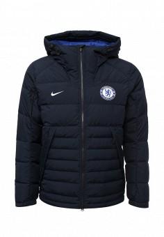 Пуховик, Nike, цвет: синий. Артикул: NI464EMUGR86. Мужская одежда / Верхняя одежда / Пуховики и зимние куртки