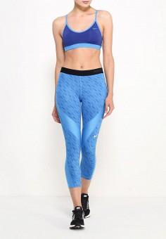 Топ спортивный, Nike, цвет: синий. Артикул: NI464EWJFV80. Спорт / Одежда