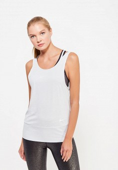 Майка спортивная, Nike, цвет: серый. Артикул: NI464EWUHF20. Женская одежда / Топы и майки