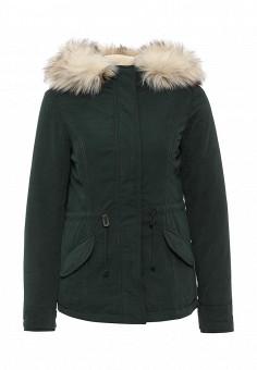 Парка, Only, цвет: зеленый. Артикул: ON380EWKZW26. Женская одежда / Верхняя одежда / Парки
