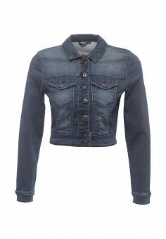 Куртка джинсовая, Only, цвет: синий. Артикул: ON380EWODS36. Женская одежда / Верхняя одежда / Джинсовые куртки