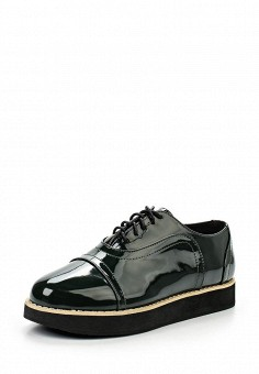 Ботинки, oodji, цвет: зеленый. Артикул: OO001AWKFV27. Женская обувь / Ботинки