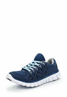 Кроссовки, oodji, цвет: синий. Артикул: OO001AWLOJ40. Женская обувь / Кроссовки и кеды / Кроссовки