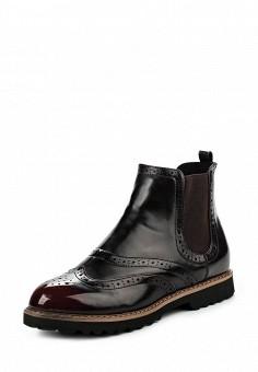 Ботинки, oodji, цвет: бордовый. Артикул: OO001AWMGP62. Женская обувь / Ботинки