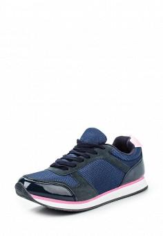 Кроссовки, oodji, цвет: синий. Артикул: OO001AWONR30. Женская обувь / Кроссовки и кеды / Кроссовки