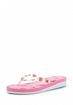 Сланцы, oodji, цвет: розовый. Артикул: OO001AWPCT29. Женская обувь / Шлепанцы и акваобувь