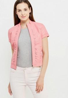 Куртка кожаная, oodji, цвет: розовый. Артикул: OO001EWIVD78. Женская одежда / Верхняя одежда / Кожаные куртки