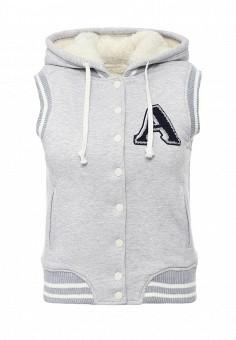 Жилет спортивный, oodji, цвет: серый. Артикул: OO001EWLCR78. Женская одежда / Верхняя одежда / Жилеты