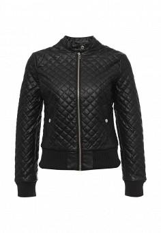 Куртка кожаная, oodji, цвет: черный. Артикул: OO001EWLQF11. Женская одежда / Верхняя одежда / Кожаные куртки