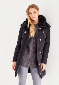 Куртка утепленная, oodji, цвет: черный. Артикул: OO001EWLUR94. Женская одежда / Верхняя одежда / Пуховики и зимние куртки