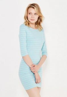 Платье, oodji, цвет: голубой. Артикул: OO001EWNOO30. Женская одежда / Платья и сарафаны