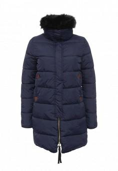 Куртка утепленная, oodji, цвет: синий. Артикул: OO001EWNZU33. Женская одежда / Верхняя одежда / Пуховики и зимние куртки