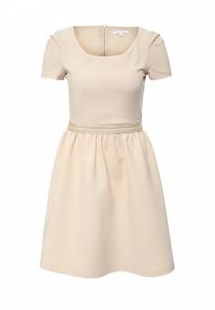 Платье, Patrizia Pepe, цвет: бежевый. Артикул: PA748EWPAE35. Премиум / Одежда / Платья и сарафаны