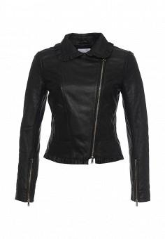 Куртка кожаная, Patrizia Pepe, цвет: черный. Артикул: PA748EWPAF26. Женская одежда / Верхняя одежда / Кожаные куртки