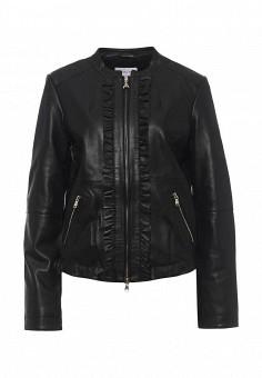 Куртка кожаная, Patrizia Pepe, цвет: черный. Артикул: PA748EWPAF29. Женская одежда / Верхняя одежда / Кожаные куртки