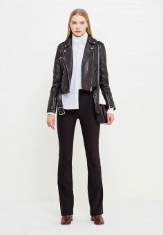 Куртка кожаная, Patrizia Pepe, цвет: черный. Артикул: PA748EWTUR32. Женская одежда / Верхняя одежда / Кожаные куртки