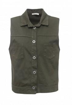 Жилет джинсовый, Perfect J, цвет: зеленый. Артикул: PE033EWRLX34. Женская одежда / Верхняя одежда / Жилеты